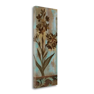 Tangletown Fine Art 'Monsoon Florals II' Print on Wrapped Canvas; 40'' H x 16'' W