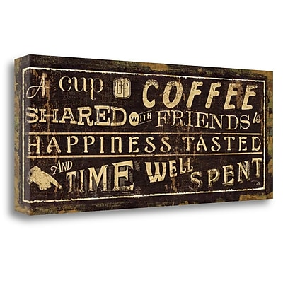 Tangletown Fine Art 'Coffee Quote III' Vintage Advertisement on Wrapped Canvas; 16'' H x 40'' W