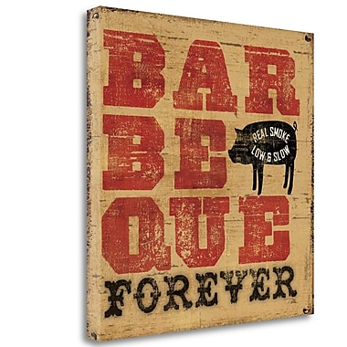 Tangletown Fine Art 'Barbeque Forever' Vintage Advertisement on Wrapped Canvas; 20'' H x 20'' W