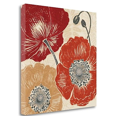 Tangletown Fine Art 'A Poppys Touch II' Graphic Art Print on Wrapped Canvas; 35'' H x 35'' W