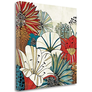 Tangletown Fine Art 'Contemporary Garden I' Print on Wrapped Canvas; 25'' H x 25'' W