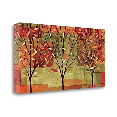 Tangletown Fine Art 'Watercolor Forest II' Graphic Art Print on Canvas; 24'' H x 48'' W