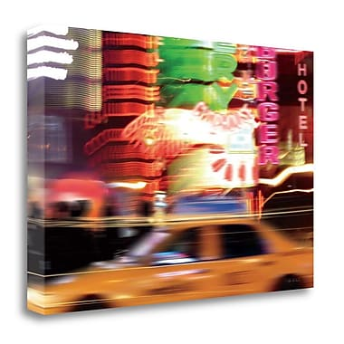 Tangletown Fine Art 'Taxi' Photographic Print on Wrapped Canvas; 23'' H x 34'' W