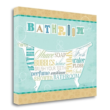 Tangletown Fine Art 'Bathroom Words I' Textual Art on Wrapped Canvas; 22'' H x 28'' W