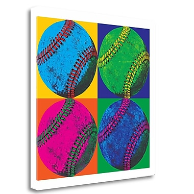 Tangletown Fine Art 'Ball Four Baseball' Graphic Art Print on Wrapped Canvas; 25'' H x 25'' W