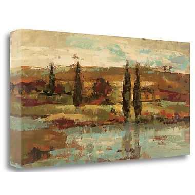 Tangletown Fine Art 'Hot Day by the River' Print on Canvas; 17'' H x 34'' W