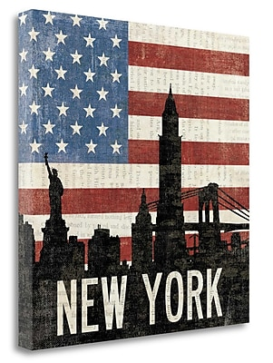 Tangletown Fine Art 'New York' Graphic Art Print on Wrapped Canvas; 24'' H x 24'' W