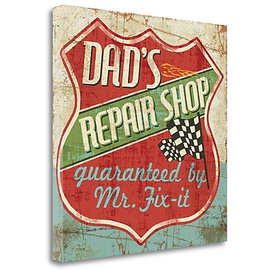Tangletown Fine Art 'Mancace IV Dads Repair Shop' Vintage Advertisement on Wrapped Canvas