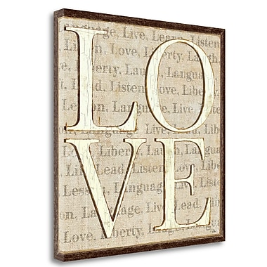 Tangletown Fine Art 'L is for Love' Textual Art on Wrapped Canvas; 20'' H x 20'' W