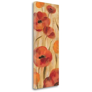 Tangletown Fine Art 'May Floral Panel I' Print on Wrapped Canvas; 32'' H x 13'' W