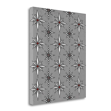 Tangletown Fine Art 'Snowflakes in Gray' Graphic Art Print on Wrapped Canvas; 20'' H x 16'' W
