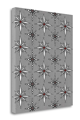 Tangletown Fine Art 'Snowflakes in Gray' Graphic Art Print on Wrapped Canvas; 24'' H x 20'' W