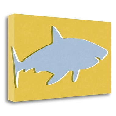 Tangletown Fine Art 'Shark III' Graphic Art Print on Wrapped Canvas; 16'' H x 29'' W