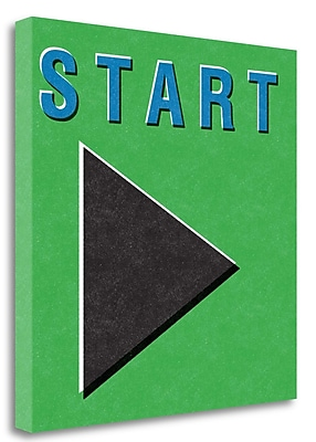 Tangletown Fine Art 'Start' Textual Art on Wrapped Canvas; 20'' H x 20'' W