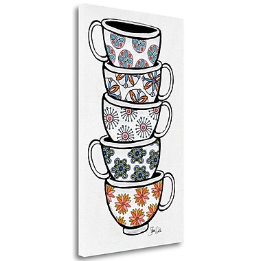 Tangletown Fine Art 'Teacups' Graphic Art Print on Wrapped Canvas; 34'' H x 20'' W