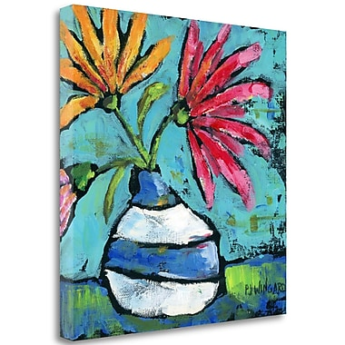 Tangletown Fine Art 'Striped Vase' Print on Wrapped Canvas; 20'' H x 20'' W