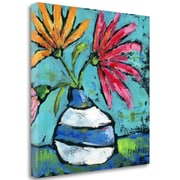 Tangletown Fine Art 'Striped Vase' Print on Wrapped Canvas; 18'' H x 18'' W