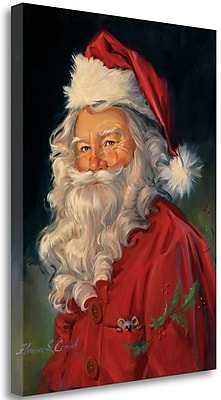 Tangletown Fine Art 'Santa' Print on Wrapped Canvas; 23'' H x 17'' W