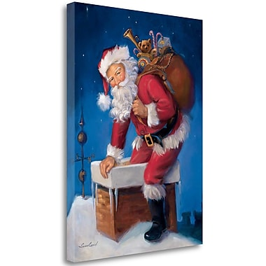 Tangletown Fine Art 'Santa in Chimney' Print on Wrapped Canvas; 23'' H x 17'' W