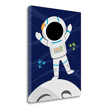 Tangletown Fine Art 'Space Man' Graphic Art Print on Wrapped Canvas; 20'' H x 16'' W