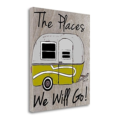 Tangletown Fine Art 'The Places We Will Go' Graphic Art Print on Wrapped Canvas; 34'' H x 28'' W