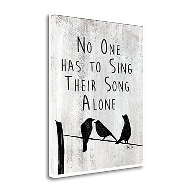 Tangletown Fine Art 'Sing Alone' Textual Art on Canvas; 30'' H x 25'' W