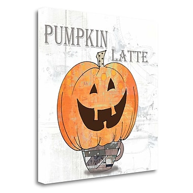 Tangletown Fine Art 'Pumpkin Latte' Graphic Art Print on Wrapped Canvas; 18'' H x 18'' W