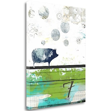 Tangletown Fine Art 'Pig 7' Graphic Art Print on Canvas; 36'' H x 28'' W