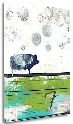 Tangletown Fine Art 'Pig 7' Graphic Art Print on Canvas; 27'' H x 21'' W
