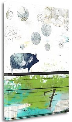 Tangletown Fine Art 'Pig 7' Graphic Art Print on Canvas; 45'' H x 35'' W