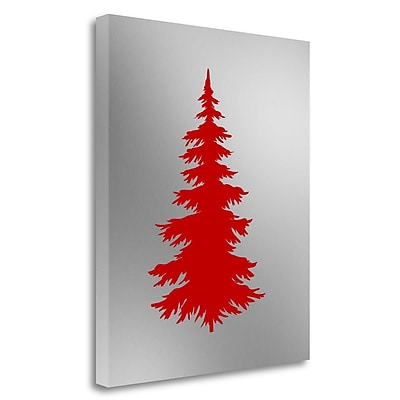 Tangletown Fine Art 'Tree in Silver' Graphic Art Print on Wrapped Canvas; 20'' H x 16'' W