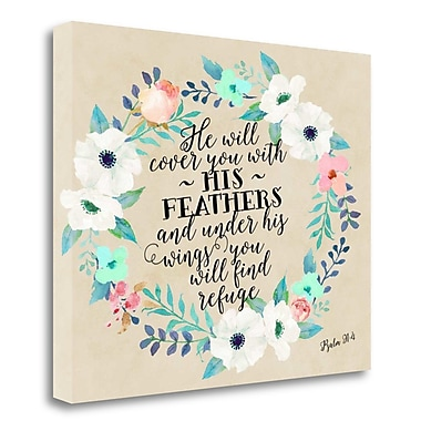 Tangletown Fine Art 'Psalm 91 - 4' Textual Art on Canvas; 28'' H x 36'' W