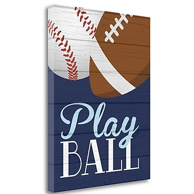Tangletown Fine Art 'Play Ball' Graphic Art Print on Wrapped Canvas; 28'' H x 22'' W