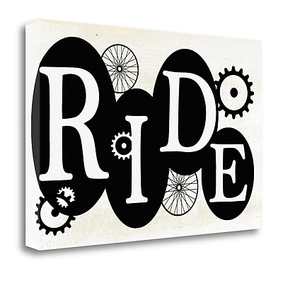 Tangletown Fine Art 'Ride' Textual Art on Wrapped Canvas; 15'' H x 23'' W
