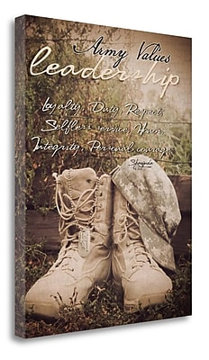 Tangletown Fine Art 'Army Values' Graphic Art Print on Wrapped Canvas; 23'' H x 18'' W