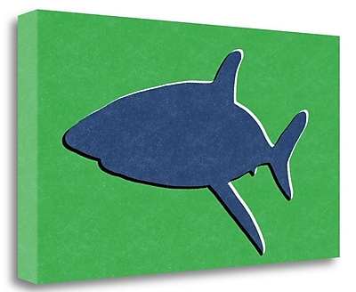 Tangletown Fine Art 'Shark II' Graphic Art Print on Wrapped Canvas; 14'' H x 26'' W