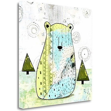 Tangletown Fine Art 'Bear I' Graphic Art Print on Wrapped Canvas; 25'' H x 25'' W
