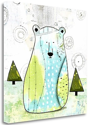 Tangletown Fine Art 'Bear II' Graphic Art Print on Wrapped Canvas; 35'' H x 35'' W