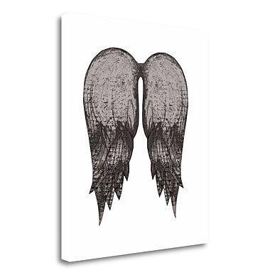 Tangletown Fine Art 'Angel Wings in Black' Graphic Art Print on Wrapped Canvas; 40'' H x 35'' W