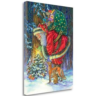 Tangletown Fine Art 'Santas Star' Print on Wrapped Canvas; 32'' H x 24'' W