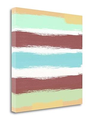 Tangletown Fine Art 'Marsala Paint Stripes' Print on Wrapped Canvas; 20'' H x 20'' W