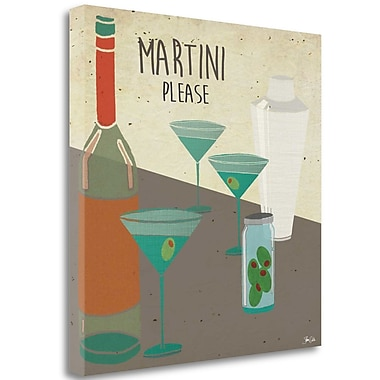 Tangletown Fine Art 'Martini Please' Graphic Art Print on Canvas; 20'' H x 20'' W