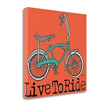Tangletown Fine Art 'Live to Ride' Graphic Art Print on Wrapped Canvas; 25'' H x 25'' W