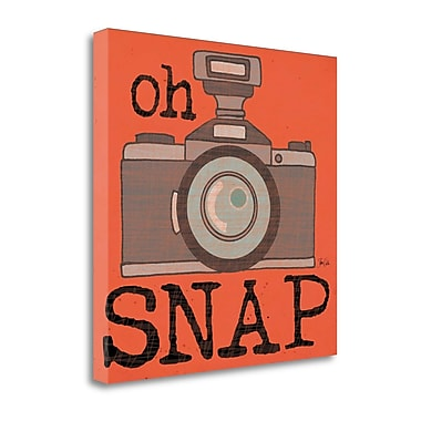 Tangletown Fine Art Oh Snap' Graphic Art Print on Canvas; 25'' H x 25'' W