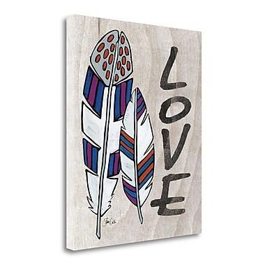 Tangletown Fine Art 'Love' Graphic Art Print on Canvas; 21'' H x 18'' W