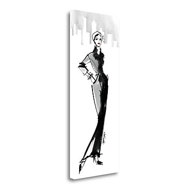 Tangletown Fine Art 'Fifties Fashion III w/ Red' Print on Wrapped Canvas; 40'' H x 16'' W
