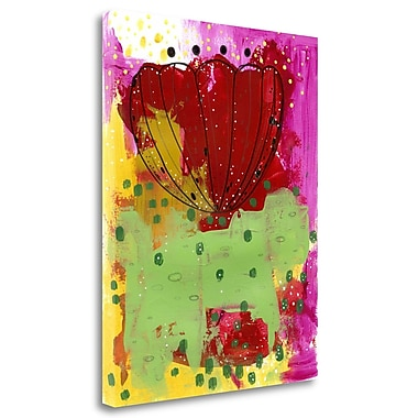 Tangletown Fine Art 'Red Flower Abstract' Print on Wrapped Canvas; 27'' H x 21'' W