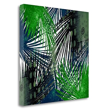 Tangletown Fine Art 'Palm Leaves' Graphic Art Print on Wrapped Canvas; 25'' H x 25'' W