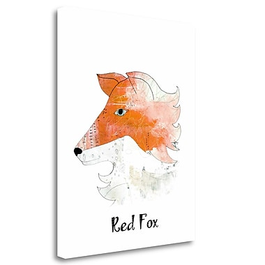 Tangletown Fine Art 'Red Fox' Graphic Art Print on Wrapped Canvas; 23'' H x 18'' W