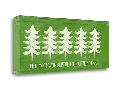 Tangletown Fine Art 'Most Wonderful Time of the Year' Graphic Art Print on Canvas; 12'' H x 28'' W
